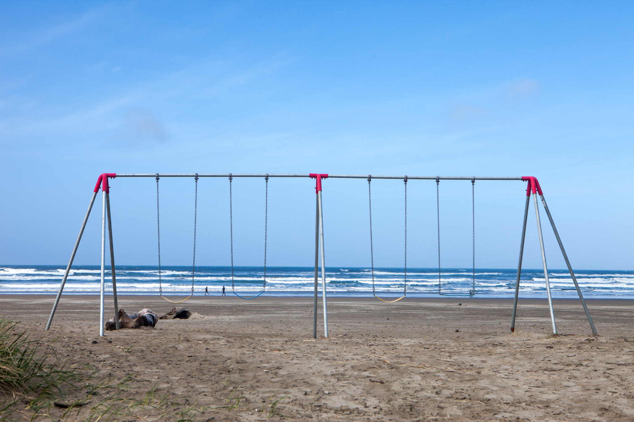 Take a swing on our swings on the coastline