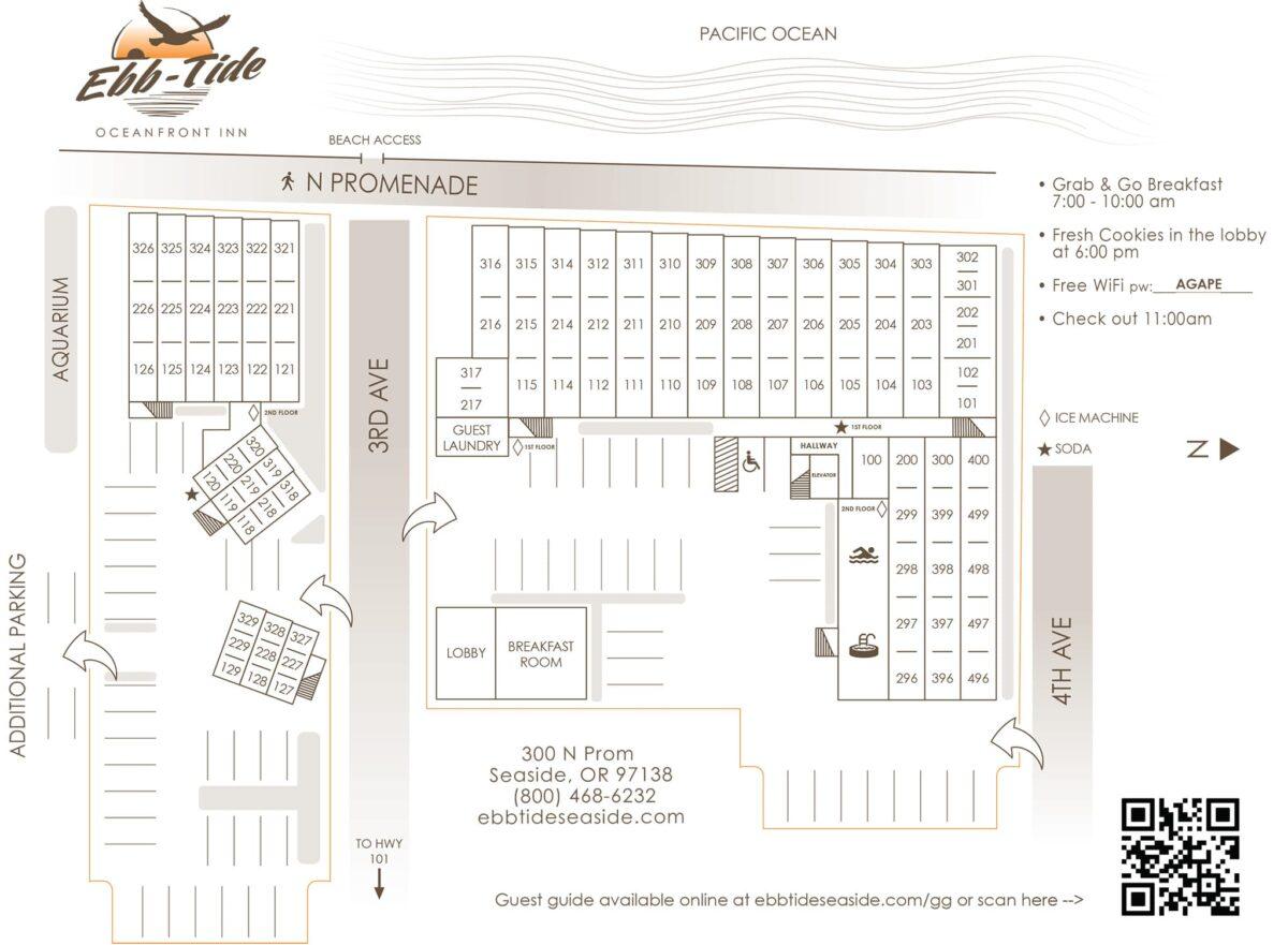 Ebb-Tide Oceanfront Inn Property Map